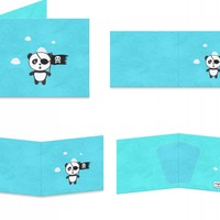 Pirate Panda with flag