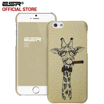 """ESR Hard Back Cover illustration Cute Cartoon Case Scratch-Resistant Cover case for iPhone 6/6s 4.7"""""""
