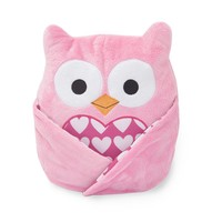 Lambs & Ivy Sprinkles Juliette the Owl Plush (Pink/Ivy)