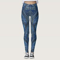 Blue Painting Water's Way Art Leggings