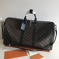 LV Louis Vuitton MONOGRAM CANVAS KEEPALL 55 HANDBAG SHOULDER BAG TRAVEL BAG