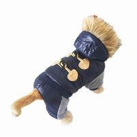 2015 New Thickening Warm Jacket Winter Dog Clothes Pet Coat Clothing Hooded Jumpsuit Warm Clothes For Dogs