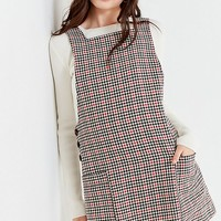 UO Checkered Pinafore Dress | Urban Outfitters