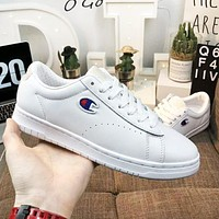 Champion 93 Eighteen suede chenille high quality new fashion embroidery logo couple shoes White