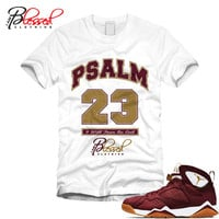 JORDAN 7 C&C - SECOND CHAMPIONSHIP - CIGAR - TEAM RED - PSALM 23 - SS / WHT (MEN)