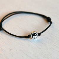 Yin Yang Bracelet or Yin Yang Anklet (24 colors to choose)