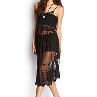 Sheer Mesh Embroidered Dress