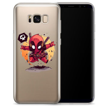 Deadpool (animated) Jelly Clear Case for Samsung Galaxy S8 PLUS