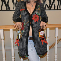 Beer, flask holder Party Sweater, SMALL, sexy, Ugly Christmas sweater, new years eve, women, alcohol, party sweater, party pocket