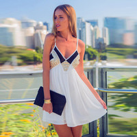 Spaghetti Strap Summer 3-color Sexy Backless Sea Vacation One Piece Dress [11612165455]