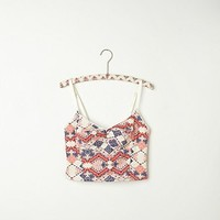 Free People Geo Print Crop Bra