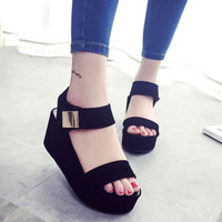 2017 New Women Wedges Sandals Women's Platform Sandals Fashion Summer Shoes Women Casual Shoes 35