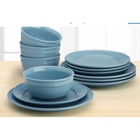 Amelia 12-Piece Solid Color Dinnerware Set - Walmart.com