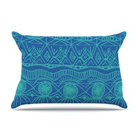 """Catherine Holcombe """"Beach Blanket Confusion"""" Pillow Case"""