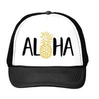 Aloha Pineapple Mesh Back Hat