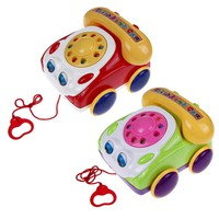 Kids Fone Colorful Fun Music Phone Toy Basics Chatter Telephone Toys Toy Phone for Baby Walking Assistant