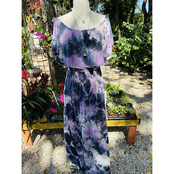 Purple Tie Dye Dress