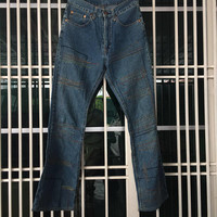 Hysteric Glamour Kinky Rugged / ZigZag style jeans flare / japanese designer / streetwear