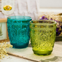 Carved glass cup