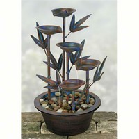 SheilaShrubs.com: Bamboo Leaves Metal Fountain D9388 by Coyne's Company: Tabletop Fountains