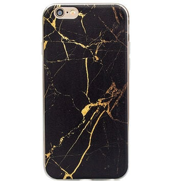 Cool Black Marble Grain iPhone 7 7Plus & iPhone 6s 6 Plus Case Gift + Free Gift Box