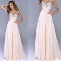 Elegant Showgi Full length Straight Crystal Paillette Gallus Sweetheart Crepe party evening dresses