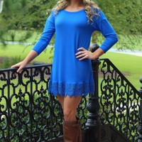 Time After Time Tunic: Royal - Lavish Boutique