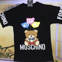 "Moschino Black ""Ball Bear"" Fashion Women T Shirt"