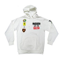 Club Foreign Italy Race Hoodie in White