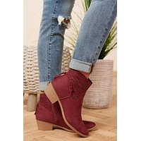 Different Feelings Booties (Cherry)