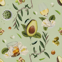 Removable Wallpaper - Dinner and Drinks