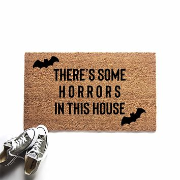 Horrors in This House Halloween Doormat