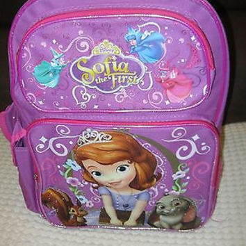"""SOFIA THE FIRST LITTLE PRINCESS 16""""BACKPACK WITH MULTIPLE COMPARTMENTS-NEW!!!!"""