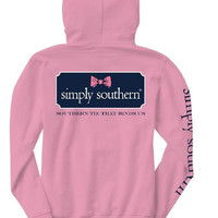 """Simply Southern """"Bow Logo"""" Hooded Long Sleeve"""