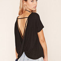 Draped Cutout-Back Top