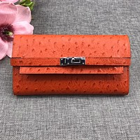 HERMES WOMEN'S LEATHER KELLY WALLET