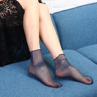 Calcetines Invisibles Thin Transparent Women Socks Novelty Ankle Socks 2017 Fashion Socks Calze Donna#121