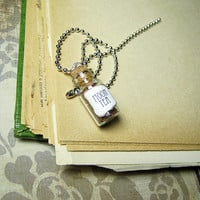 Game of Thrones MOON TEA 1ml Glass Bottle Necklace - Glass Cork Vial Pendant - Westeros Song of Ice & Fire Charm