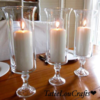 """SET OF 10, 13""""Tall Clear Wedding Centerpieces, table centerpiece, party centerpiece, candle holder."""