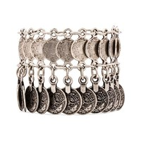 Natalie B Jewelry Nomad Anklet in Metallic Silver