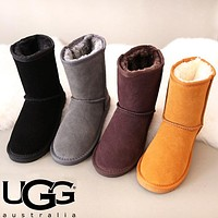 UGG Winter Fashion Women Wool Snow Boots