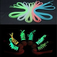 luminous shoelace glow in the dark color fluorescent shoelace Athletic Sport flat shoe laces Newest [8805241543]