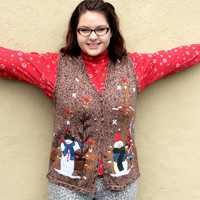 It's Gonna Be A Brown Christmas Tacky Ugly Sweater Vest