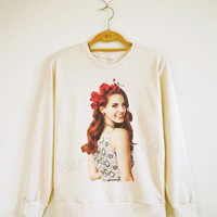 Cute Lana Del Rey Shirt Lana Del Rey TShirt Rock Sweater Shirt Sweatshirt Jumpers Tee Long Sleeve Shirt Women Shirt Unisex Shirt Size S,M,L