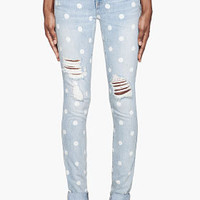 Marc By Marc Jacobs Pale Blue Lily Dot Slim Jeans for women | SSENSE