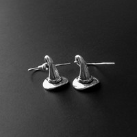 Witch Hat Earrings, Witchy Jewelry, Witch Hat Charm, Witch Jewelry, Gothic Jewelry, 90s Jewelry, Halloween Earrings, Spooky Jewelry