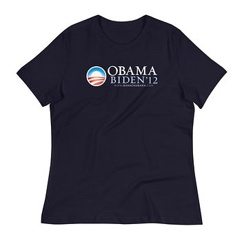 Obama 2012 Retro Campaign Women's Relaxed T-Shirt