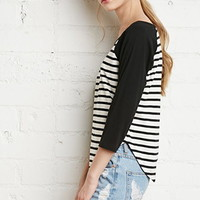 Striped Baseball Tee