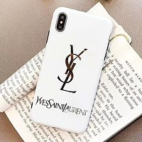 YSL New fashion letter print protective cover phone case White