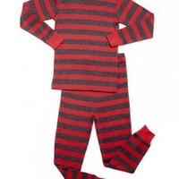 "Leveret ""Baby Boy"" Striped 2 Piece Pajama Set 100% Cotton (Size 6-18 Months)"